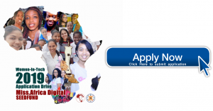 Miss.Africa Digital 2019 Seed Funding Tech Initiative for women in Africa