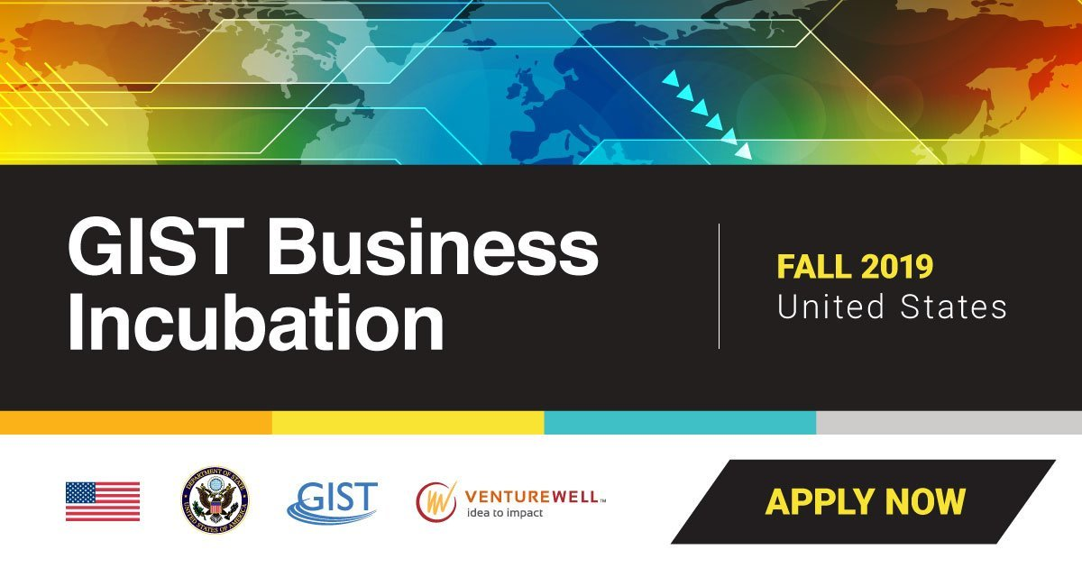 GIST business incubation for entrepreneurs (Funded to USA with Visa)